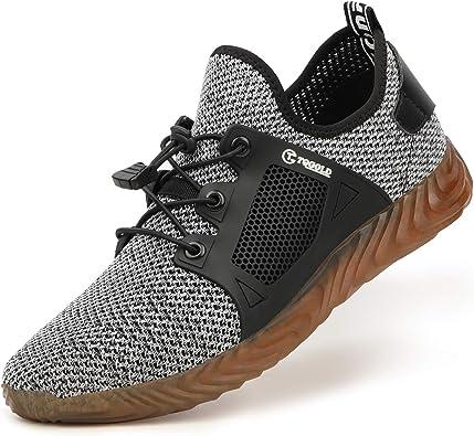 AONEGOLD Zapatillas de Seguridad Hombres Ligeros Transpirables Calzado Seguridad Deportivo Mujer Puntera de Acero S3 Zapatos de Trabajo Zapatilla de Deporte: Amazon.es: Zapatos y complementos