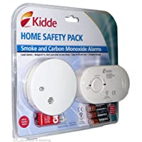 Carbon Monoxide & Smoke Detector Alarm Safety pack | Ready to use inc. Batteries