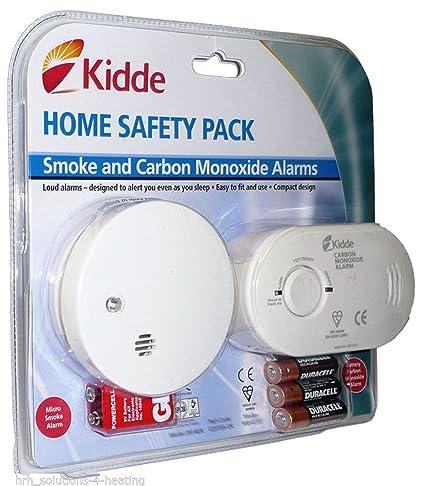 Detector de monóxido de carbono y humo alarma seguridad unidades | listo para su uso INC