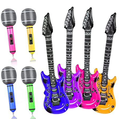 Yojoloin 8 UNIDS Inflables Guitarra Micrófono Instrumentos ...