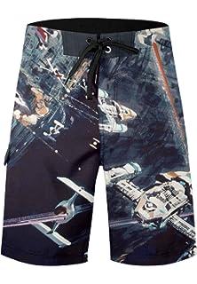 f17c9de135 Musterbrand Star Wars Board Shorts Men Star Wars Space Quick Dry Beach Swim  Wear Multicoloured