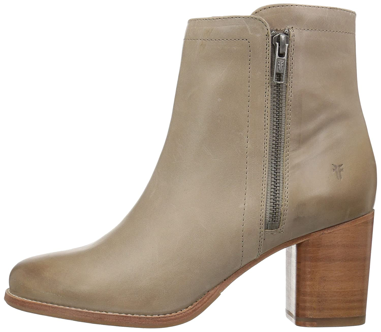 FRYE Women's Addie Double Zip Ankle Boot B072JXCQDY 7.5 B(M) US|Grey