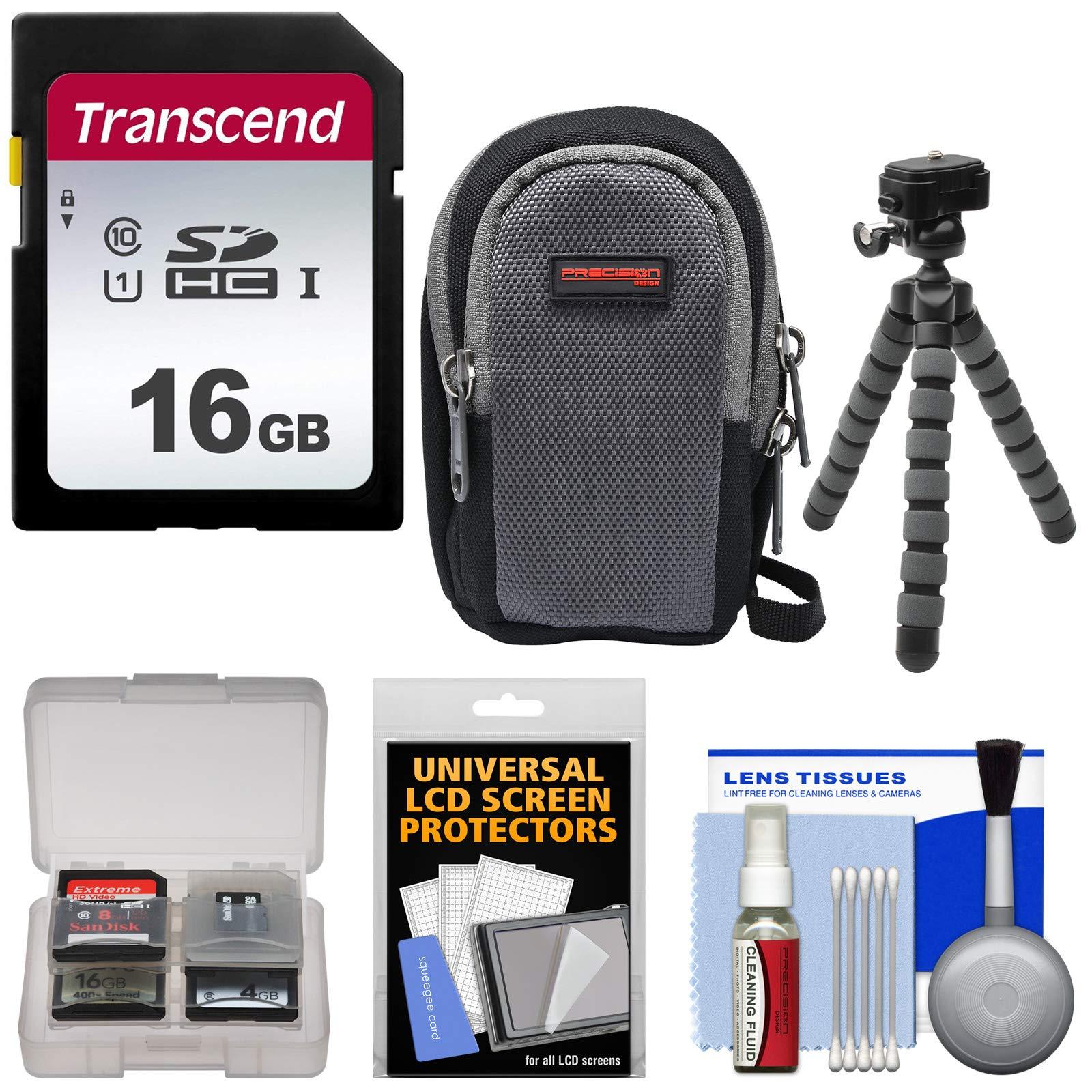 Essentials Bundle for Sony Cyber-Shot DSC-RX100 II III IV V VI Digital Cameras with 16GB Card + Case + Flex Tripod + Accessory Kit
