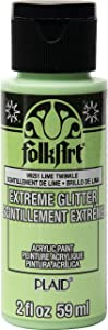 FolkArt Extreme Glitter Paint, Lime Twinkle