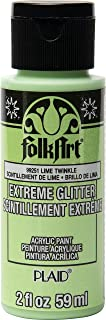 product image for FolkArt Extreme Glitter Paint, Lime Twinkle