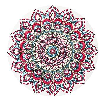STDZ Toalla de Playa Redonda con Bohemio patrón de impresión Circulares Mantel de Picnic de Yoga, 135-175cm: Amazon.es: Deportes y aire libre