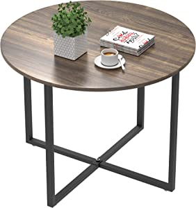Amyove Round Coffee Table, 60cm, Brown