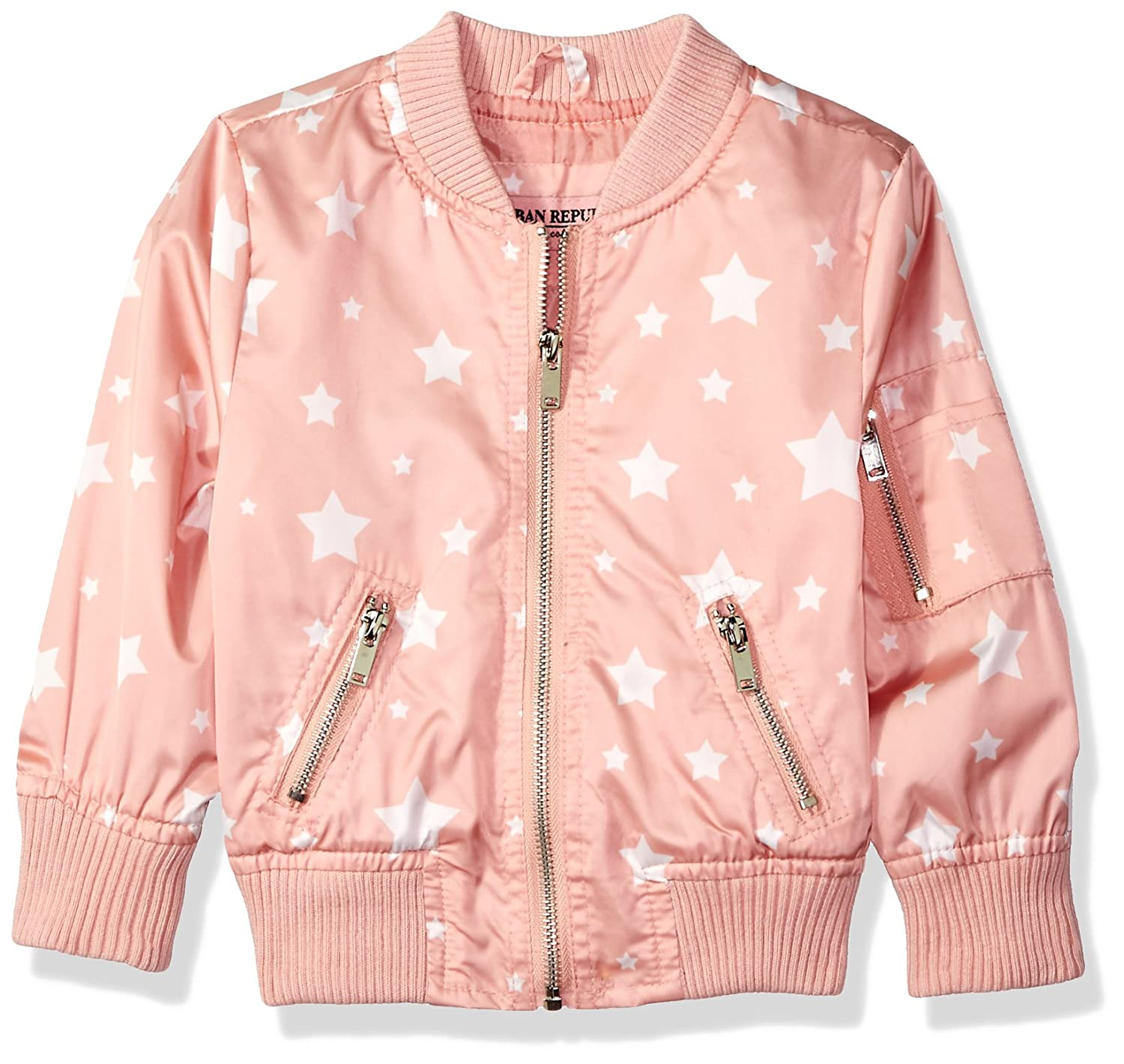 Urban Republic Big Girls Bomber Jacket Olive 10-12