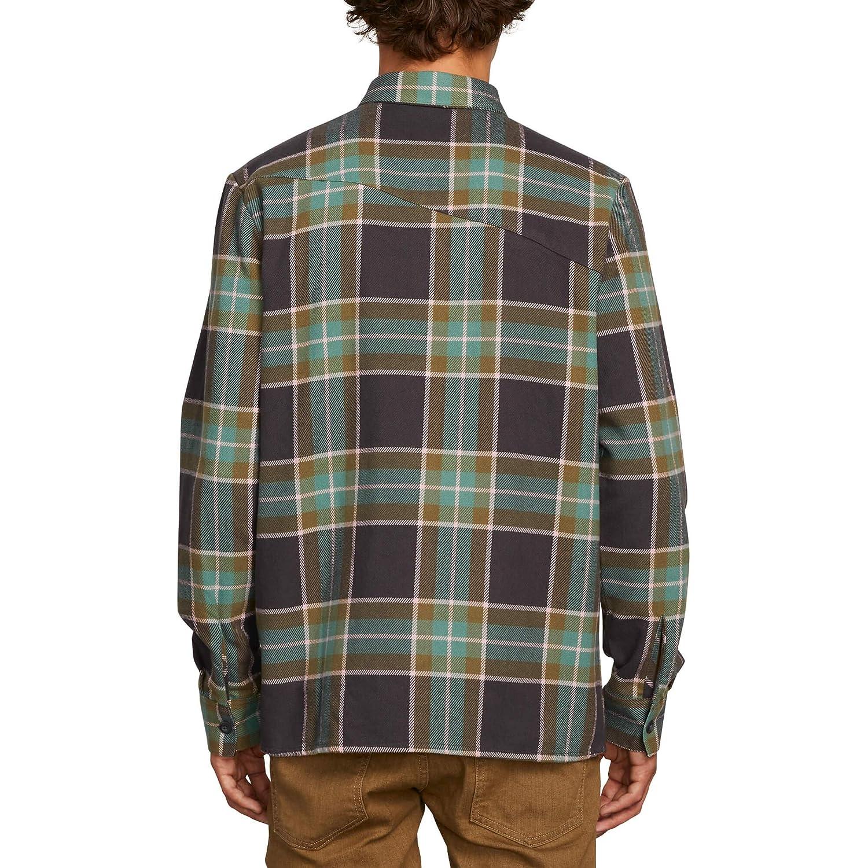 Volcom Mens Randower Long Sleeve Button Up Flannel