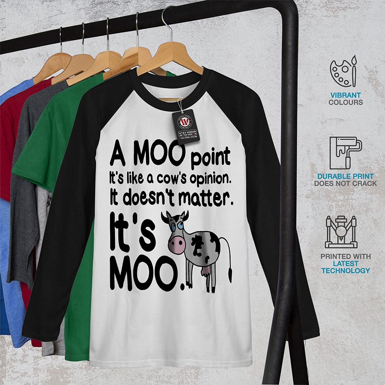 Wellcoda Kuh Muhen Meinung Mnner S 2xl Baseball Ls T Shirt Amazon Mooi Printing Premium Sweater Top Bekleidung