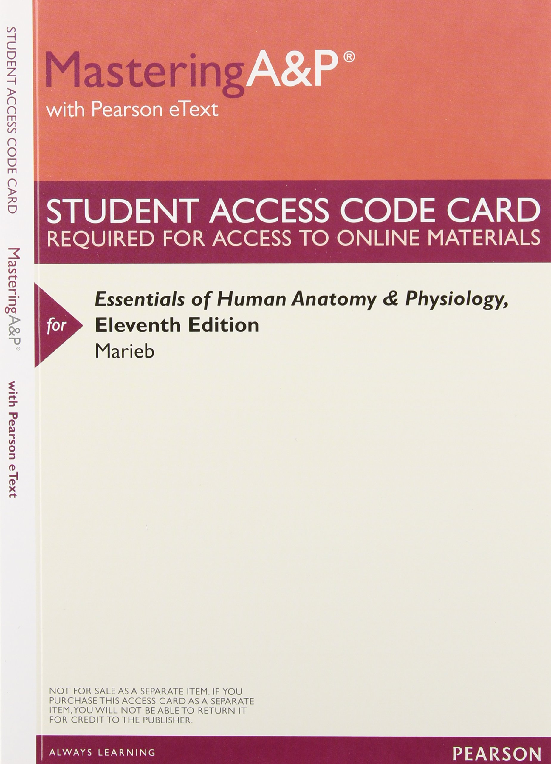 Essentials of Human Anatomy and Physiology, Books a la Carte Plus ...