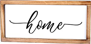 MAINEVENT Home Sign - Rustic Farmhouse Decor for The Home Sign - Wall Decorations for Living Room, Modern Farmhouse Wall Decor, Rustic Home Decor, Cute Room Decor with Solid Wood Frame - 8x17 Inch