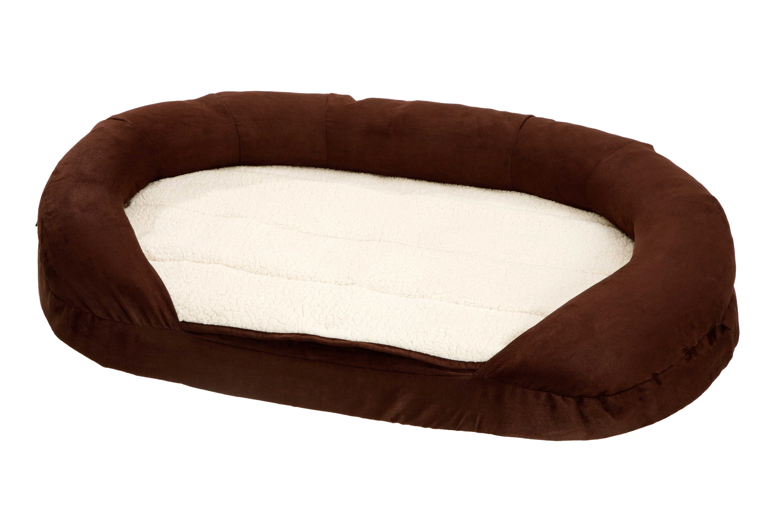 Karlie Ortho Bed Oval Lying Matress, 120 x 72 x 24 cm, Brown