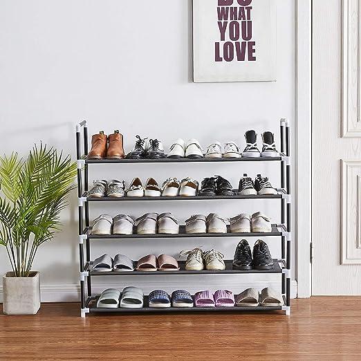 Amazon.com: Shoe Rack, 25 Pairs, 5 Tiers Shoe Organizer, Shoe