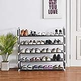 Shoe Rack, 25 Pairs, 5 Tiers Shoe Organizer, Shoe Racks for Closets, Shoe Organizer for Closet, Closet Shoe Organizer…
