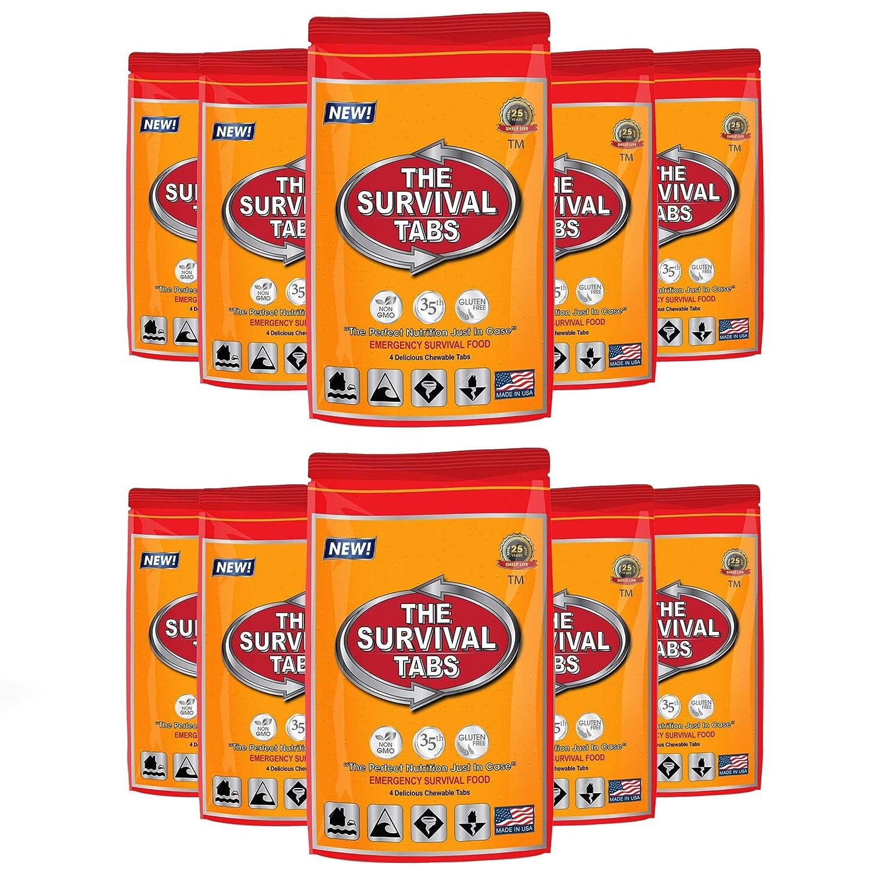 Escape & Evade Tactical Military Survival Kit Survival Tabs Tabs 25 Years Shelf Life (40 Tabs Survival Food 4-tab x 10 pouch - Butterscotch) LOHAS FARM