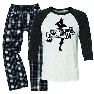 Amazon Com Livingtees You Take The L Gamer Fortnight Pajamas For