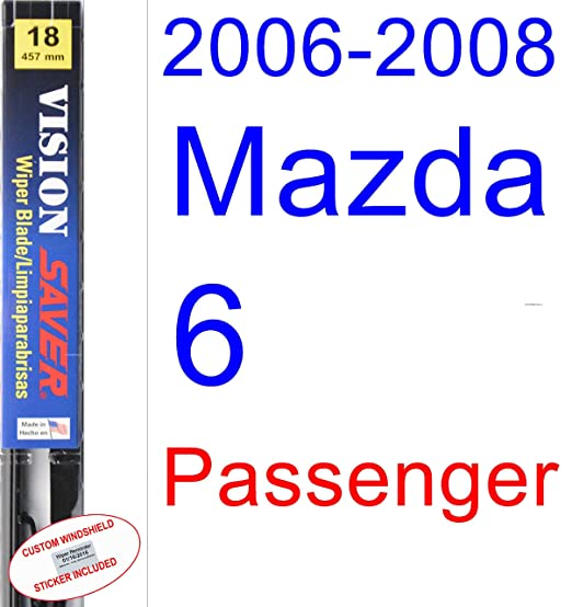 Amazon.com: 2006-2008 Mazda 6 Wiper Blade (Driver) (Saver Automotive Products-Vision Saver) (2007): Automotive