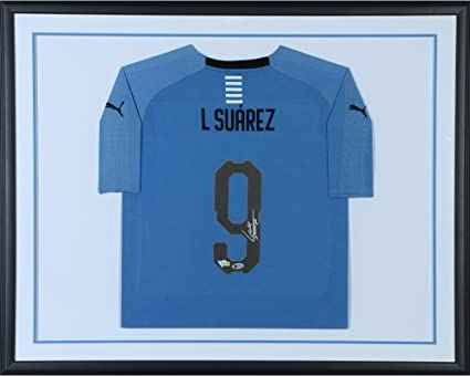 0271721f9a6 Image Unavailable. Image not available for. Color  Luis Suarez Uruguay  Standard Framed Autographed Puma Jersey - Fanatics Authentic Certified ...