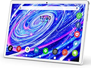 Tablet 10.1 Inch, Dual SIM 3G Phone Call Tablets, Quad Core Android 9.0 HD Touchscreen Tablet with 32GB ROM/128GB Expand, 6000mAh Battery, 5MP Camera, WiFi, Bluetooth, GPS, Google Certified Tablet