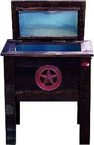 Lifoam 13650 57-Quart Texas Star Wooden Cooler