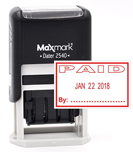 MaxMark Date Stamp With PAID Self Inking
