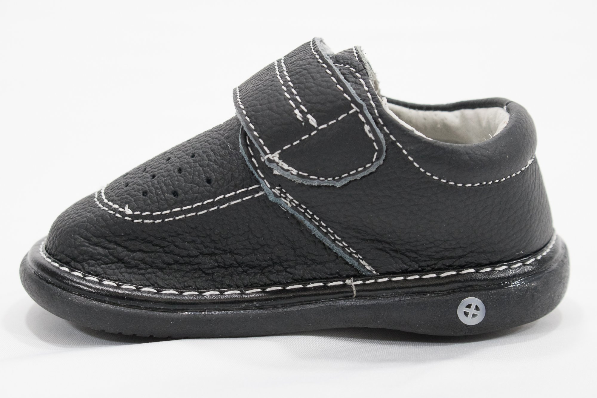 Anderson Baby Care LLC Squeaky Shoes for Toddler Boys (4T, Black Loafer) by Anderson Baby Care LLC (Image #6)