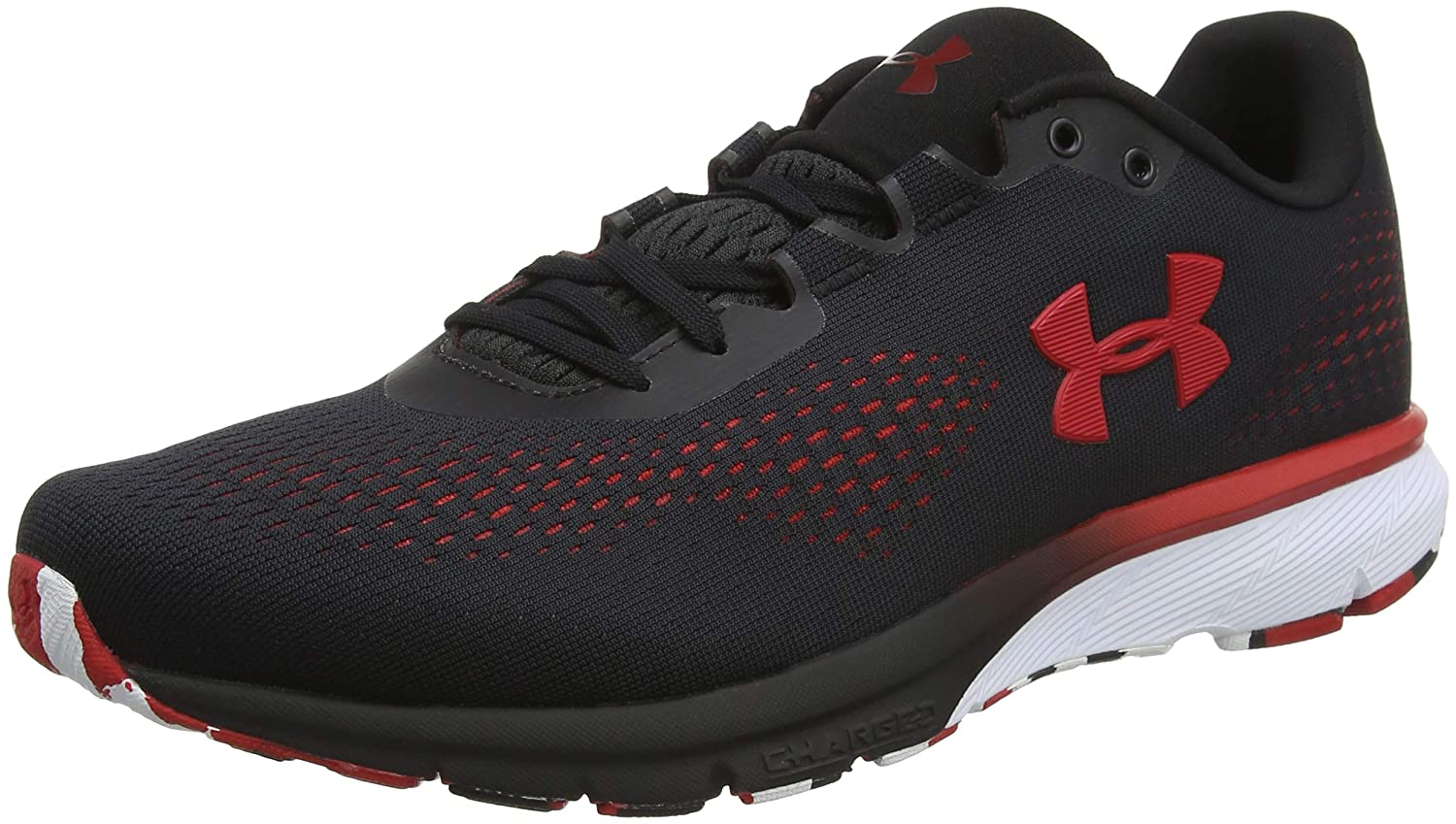 Under Armour UA Charged Spark, Zapatillas de Running para Hombre 42 EU|Negro (Black/ Red/ Red (001) 001)