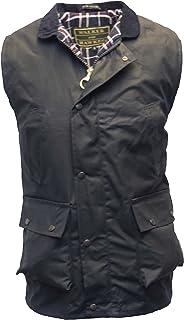 2f51c25b605 Walker   Hawkes - Mens Wax Bodywarmer Waistcoat Countrywear Gilet - Navy