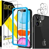 [2+2 Pack] BAZO Compatible with iPhone 11 (6.1 inch) Screen Protector and Tempered Glass Camera Lens Protector True Touch [Ea