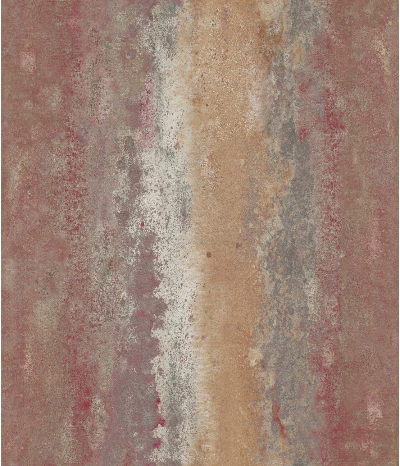 RoomMates RMK11378WP Red Oxidized Metal Peel and Stick Wallpaper