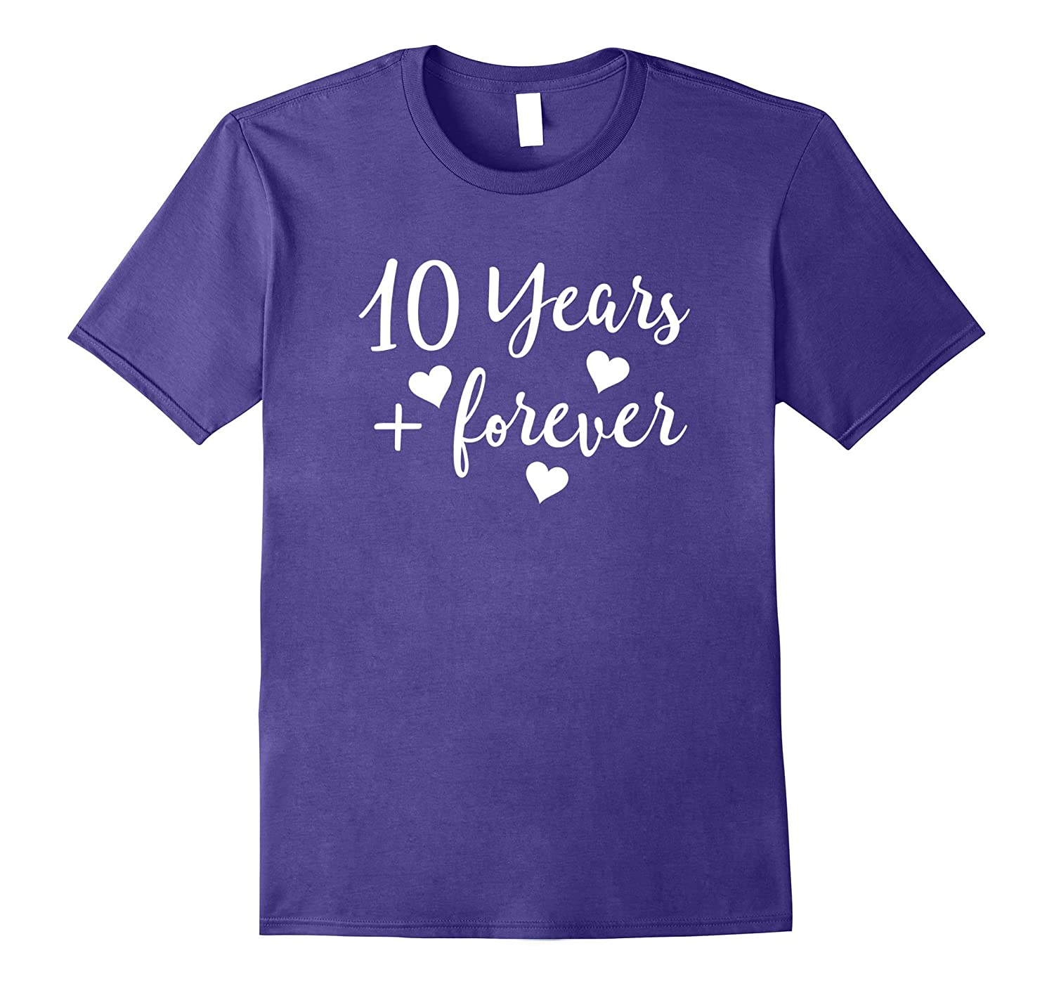 10th Anniversary Gift T Shirt 10 Years Couples Party Tee-4LVS