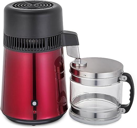 Olibelle 4L 750 W Megahome - Destilador de Agua Profesional purificador en Acero Inoxidable Jarre Cristal casa Oficina Laboratorio: Amazon.es: Hogar