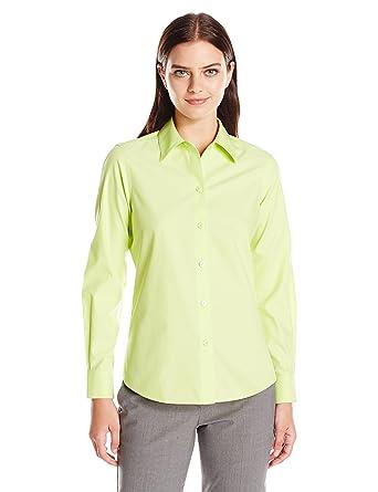 bbe4dbb1176171 Foxcroft Women's Long Sleeve Diane Essential Non Iron Shirt at Amazon  Women's Clothing store: