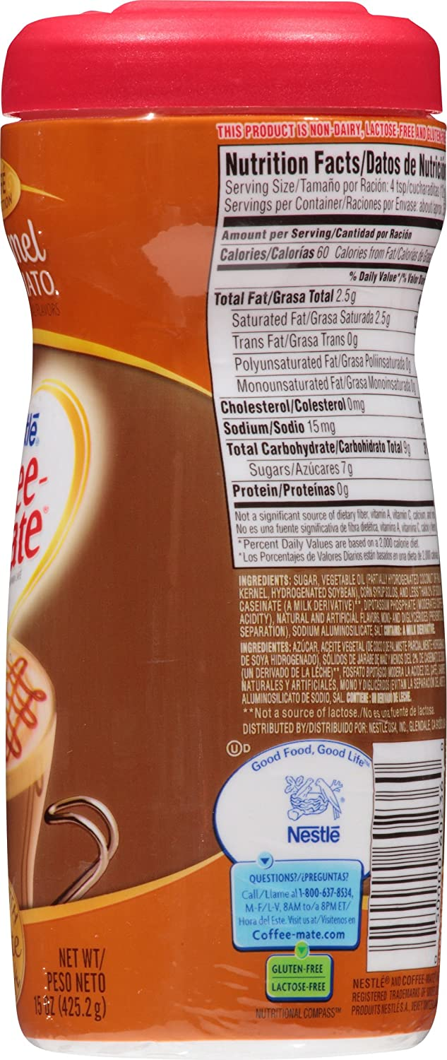 Amazon.com : Nestle Coffee-Mate Coffee Creamer Caramel Macchiato, Pack of 1 (15 Ounce) : Nondairy Coffee Creamers : Grocery & Gourmet Food