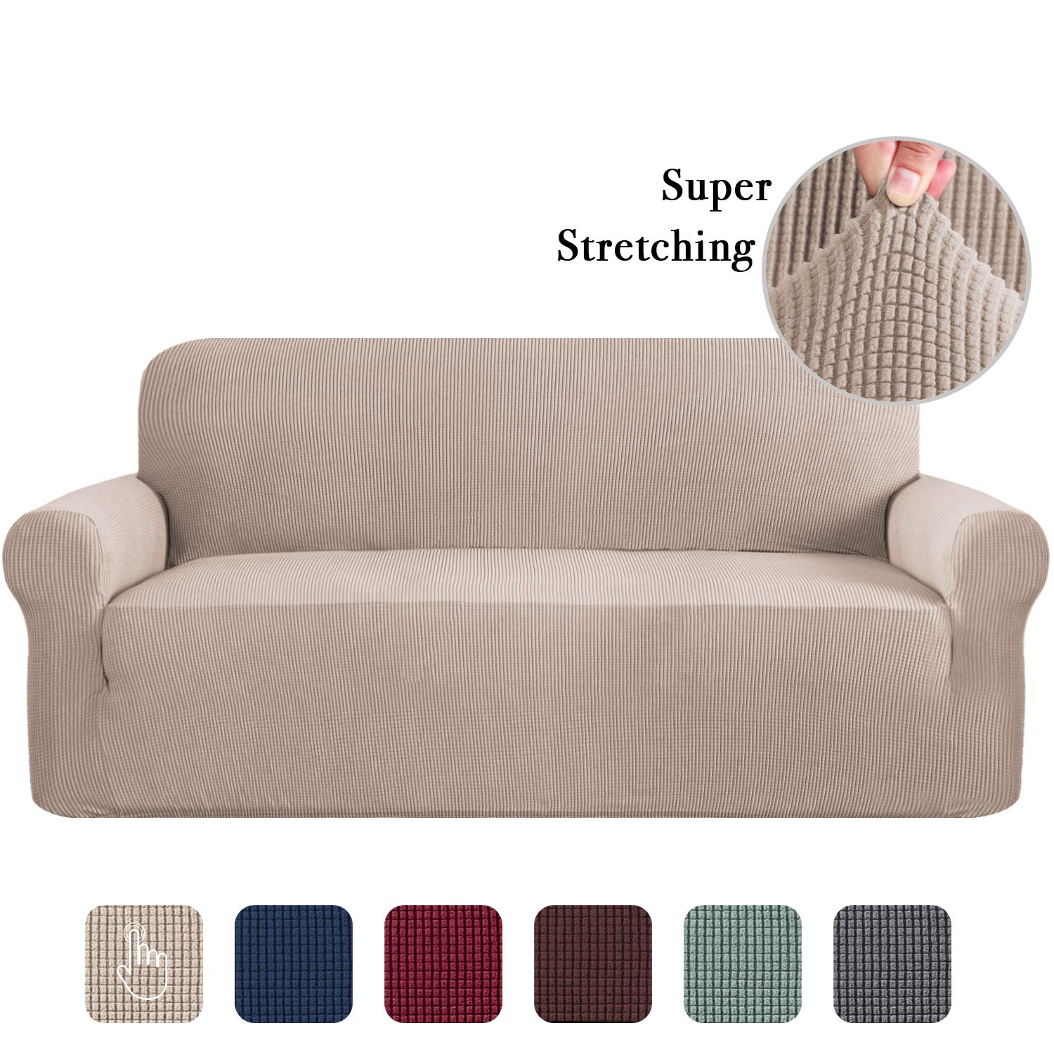 Amazon Com Sofa Slip Cover For Leather Couch Covers For 3 Cushion