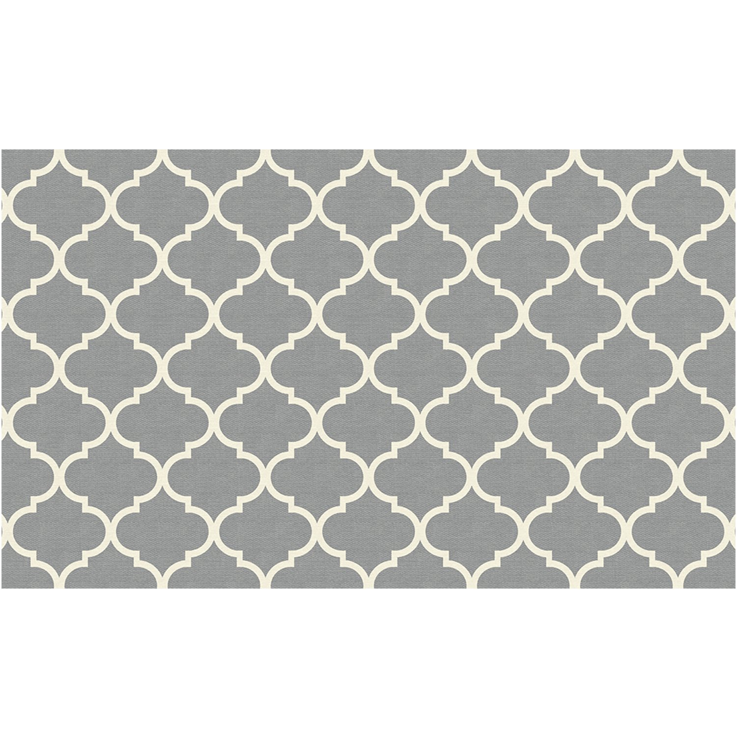 RUGGABLE Washable Stain Resistant Pet Dog Accent Rug for Indoor/Outdoor - Moroccan Trellis Light Grey 3' x 5' Accent Rug