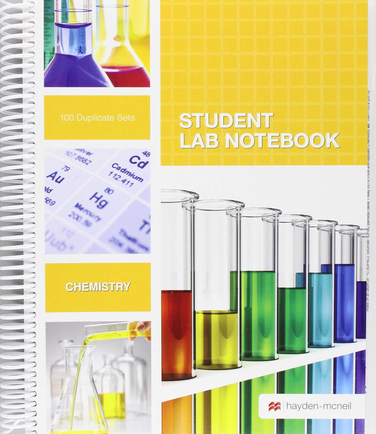 Student Lab Notebook: 100 Spiral Bound duplicate pages(Package may vary) by Brand: Hayden McNeil Publishing