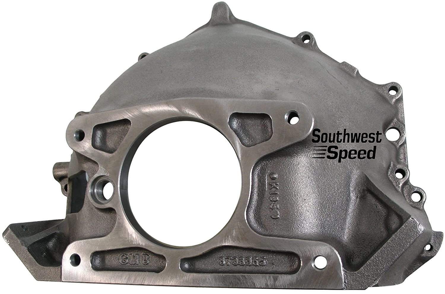 NEW 55-57 CHEVY 365 BELLHOUSING, CLUTCH BALL, & REAR ENGINE MOUNTING  BRACKETS, STAMPED WITH #GM 3733365, DIRECT REPLACEMENT FOR SBC & BBC V-8  ENGINES