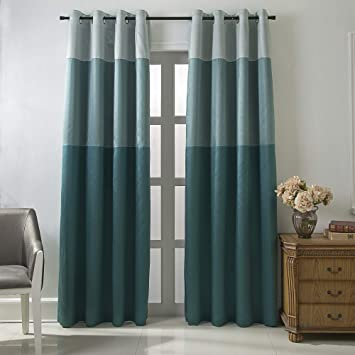 Amazoncom Jarl Home Three Color Stitching Blackout Curtains