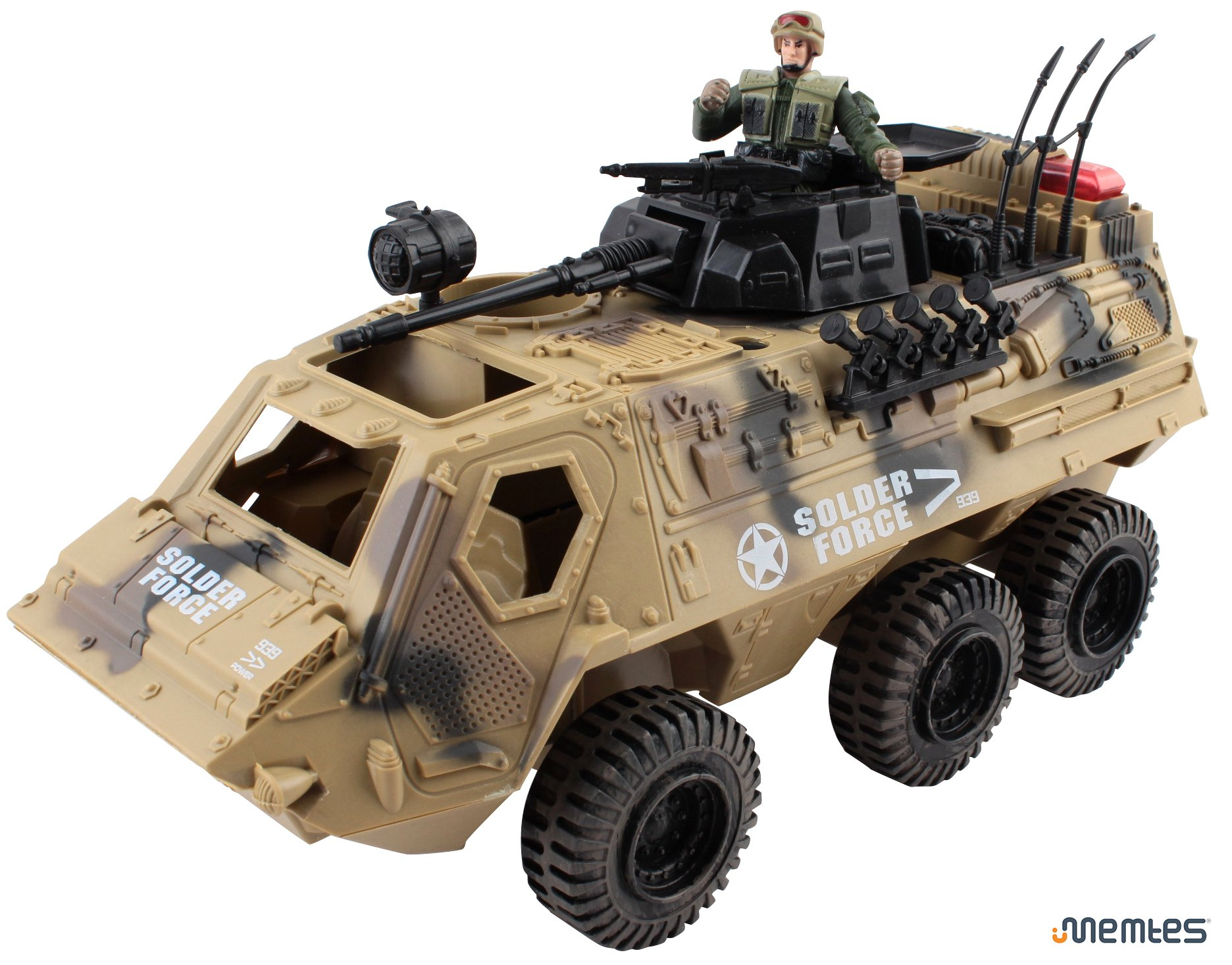Memtes Military Fighter Army Truck Tank Toy with Mini Army Soldier with Lights and Sound by Memtes (Image #3)