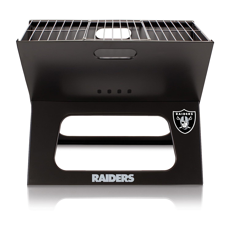 NFL Oakland Raidersポータブル折りたたみ可能なチャコールx-grill B01EWKIVPE