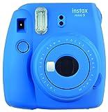 Fujifilm Instax Mini 9 Cobalt Blue Fotocamera Istantanea per Foto Formato 62x46 mm, Blu