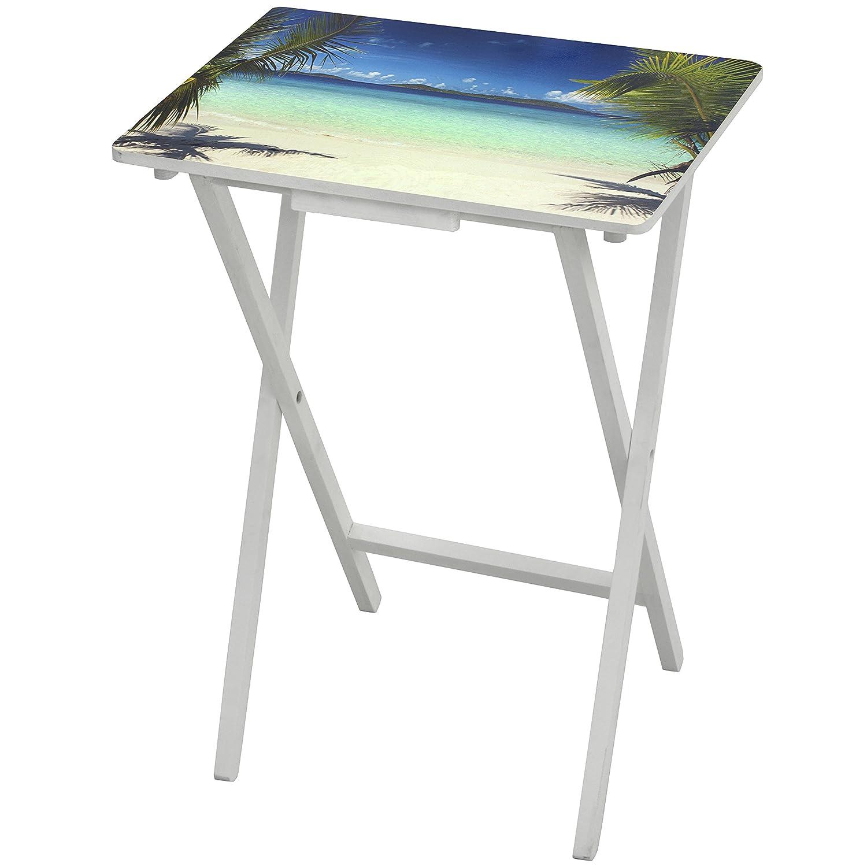 Oriental Furniture Caribbean Beach TV Tray CAN-TV-BEACH-A