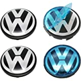 Wheel Center Hub Caps 65mm Wheel Hub Cover Replacements Logo Badge Emblem for VW P/N:3B7 601 171, Sets of 4PCS