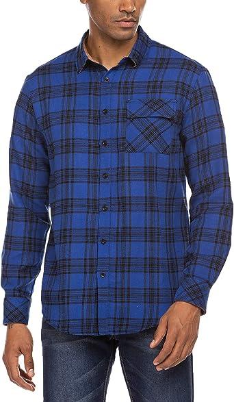 MAXMODA Camisa de leñador a cuadros, camisa de manga larga para hombre, corte normal, camisa de franela, camisa de manga larga para hombre, camisa de traje regional: Amazon.es: Ropa y accesorios