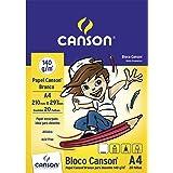 Bloco Desenho A4 140g/m², Canson, 66667070, Branco, 20 Folhas