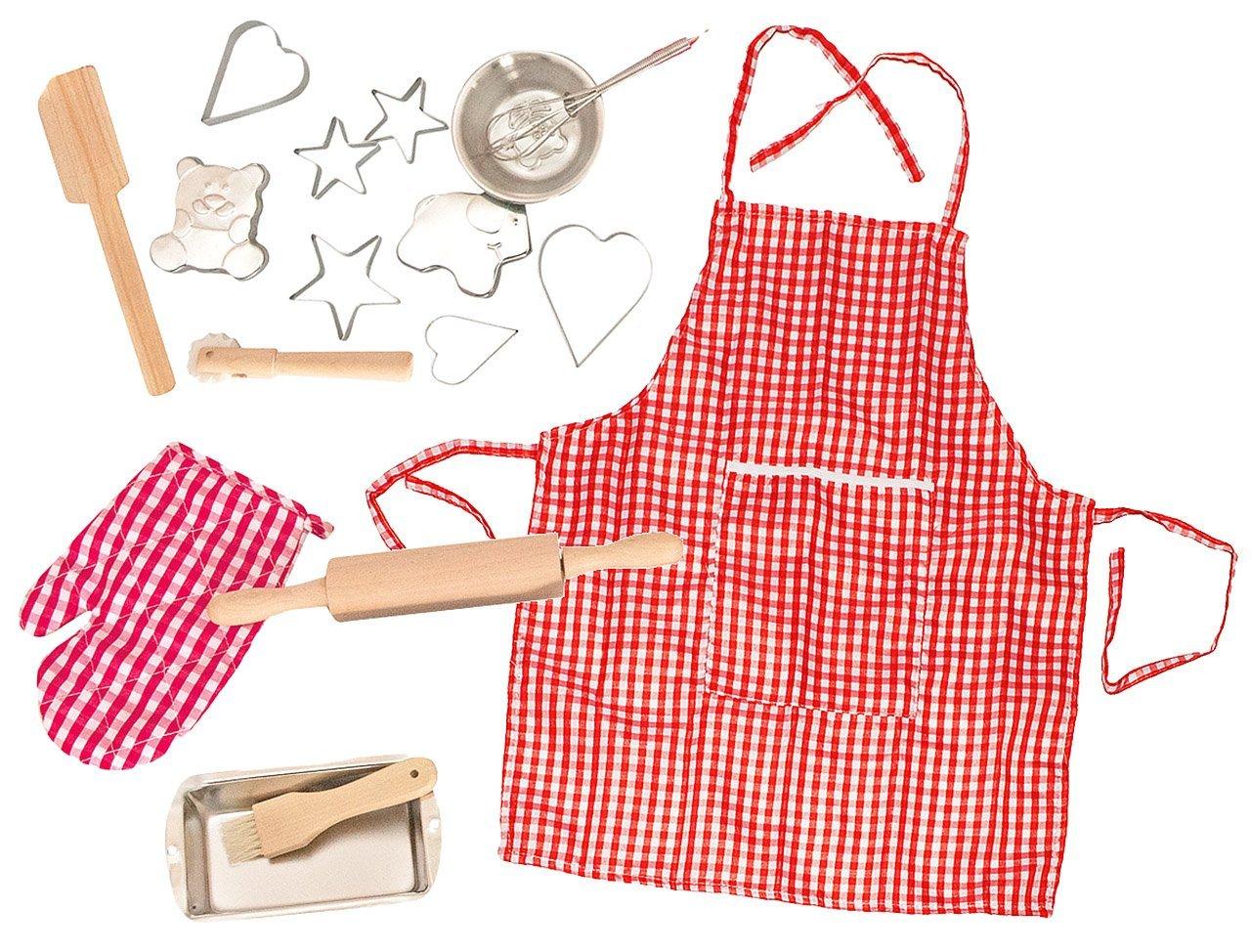 17 tlg. Kochset incl. Namen - Backset aus Metall + Küchenhelfer + ...