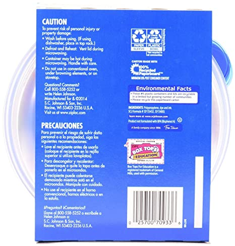 Amazon.com: Ziploc One Press Seal Medium Round Container - 3 ct: Health & Personal Care