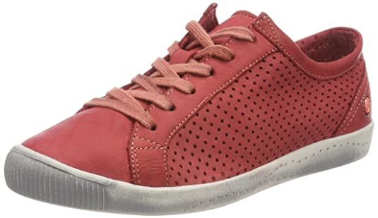 Softinos Ica388Sof - Sneakers Basses - Femme - Noir (Noir) - 41 (Taille Fabricant: 8)